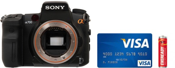 Sony A700 Real Life Body Size Comparison