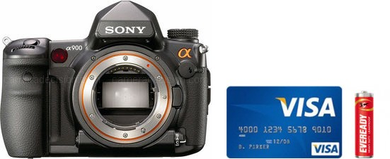 Sony A900 Real Life Body Size Comparison