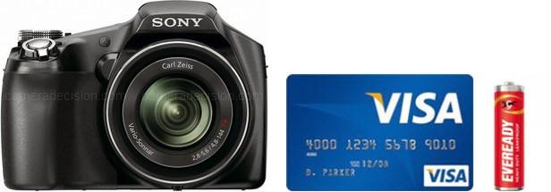 Sony HX100V Real Life Body Size Comparison