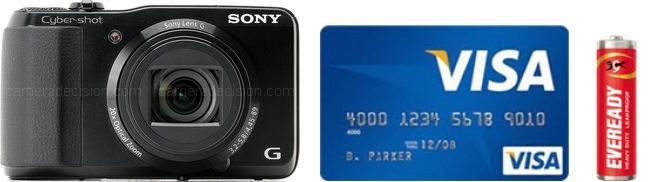 Sony HX20V Real Life Body Size Comparison