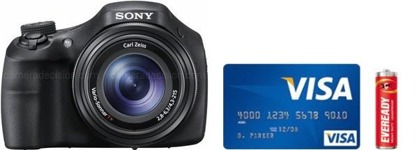 Sony HX300 Real Life Body Size Comparison
