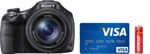 Sony HX400V Real Life Body Size Comparison