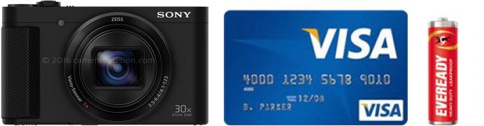 Sony HX80 Real Life Body Size Comparison