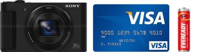 Sony HX90V Real Life Body Size Comparison
