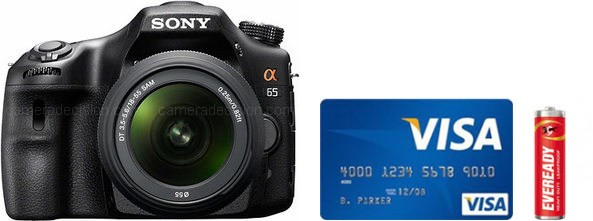 Sony A65 Real Life Body Size Comparison