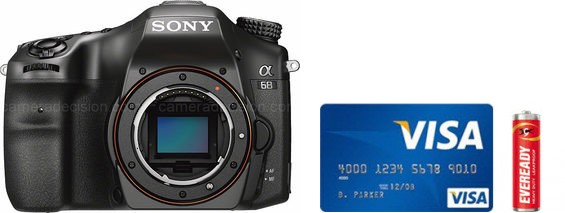 Sony A68 Real Life Body Size Comparison