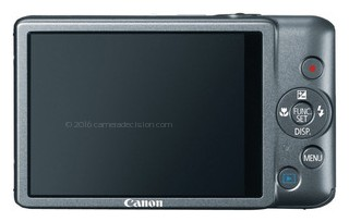 Canon ELPH 100 HS back view and LCD