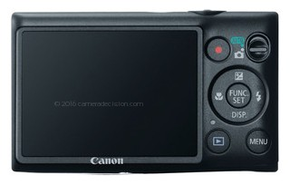 Canon ELPH 300 HS back view and LCD