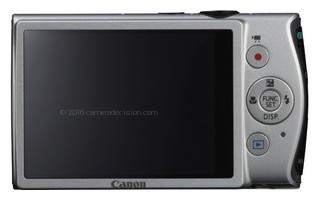 Canon ELPH 310 HS back view and LCD