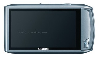 Canon ELPH 500 HS back view and LCD