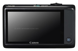 Canon ELPH 510 HS back view and LCD