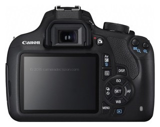Canon 1200D back view and LCD