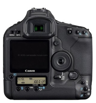Canon 1D MIII back view and LCD