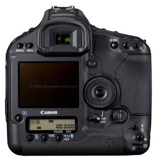 Canon 1D MIV back view and LCD