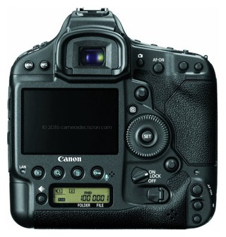 Canon 1D X back view and LCD