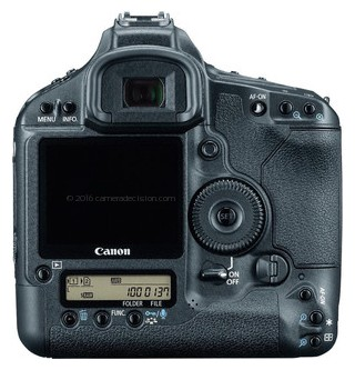 Canon 1Ds MIII back view and LCD