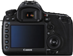 Canon 5DS R back view and LCD