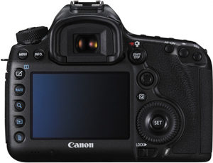 Canon 5DS back view and LCD