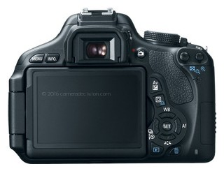 Canon 600D back view and LCD