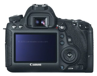 Canon 6D back view and LCD