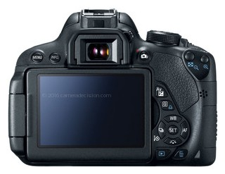 Canon 700D back view and LCD