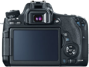 Canon 760D back view and LCD