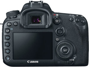 Canon 7D MII back view and LCD