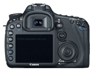 Canon 7D back view and LCD