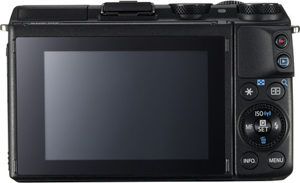 Canon M3 back view and LCD