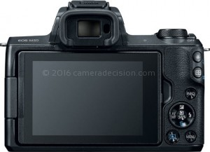 Canon M50 back view and LCD