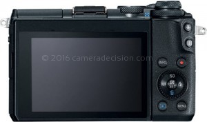 Canon M6 back view and LCD