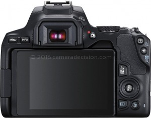 Canon SL3 back view and LCD