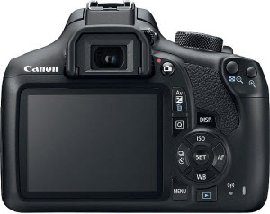 Canon T6 back view and LCD