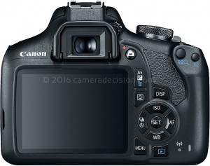 Canon T7 back view and LCD