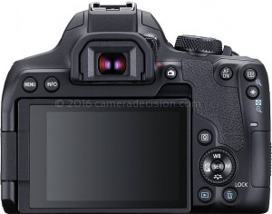 Canon T8i back view and LCD