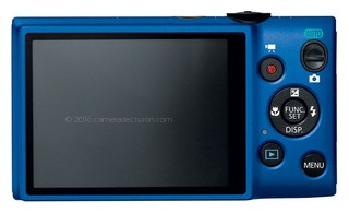 Canon Elph 115 IS back view and LCD