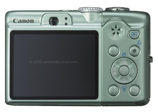 Canon A1100 IS back view and LCD