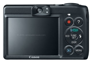 Canon A1200 back view and LCD