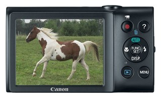 Canon A2300 back view and LCD