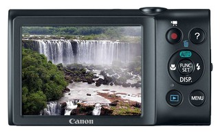 Canon A2400 IS back view and LCD