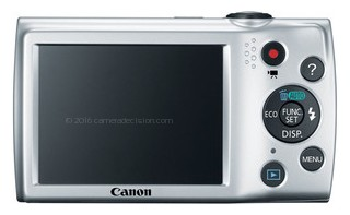 Canon A2500 back view and LCD