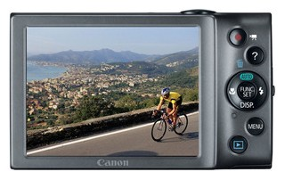 Canon A3400 IS back view and LCD