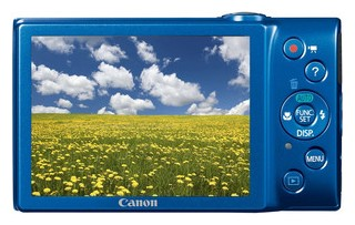 Canon A4000 IS back view and LCD