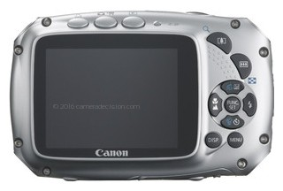 Canon D10 back view and LCD