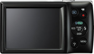 Canon 160 back view and LCD