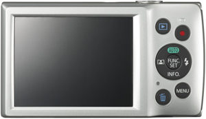 Canon ELPH 180 back view and LCD