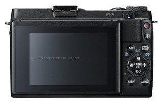 Canon G1 X II back view and LCD