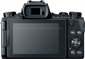 Canon G1 X III back view and LCD