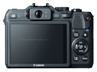 Canon G15 back view and LCD