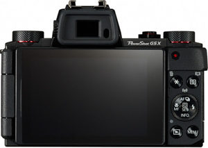 Canon G5 X back view and LCD